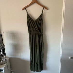 Hollister Army Green Jumpsuit